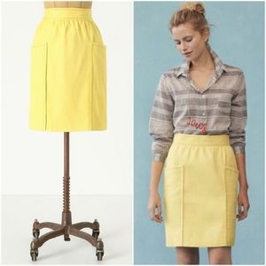 Cartonnier Anthro Yellow Well Pocket Skirt Size 0
